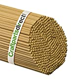 Wooden Dowel Rods - 1/4'' x 36'' Unfinished Hardwood Sticks - For Crafts and DIY'ers - Craftparts Direct - Bag of 1000