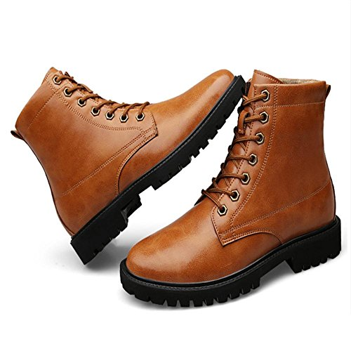 Men's fashion flat boots casual winter cotton lining classic line with disabilities 41 Dunqtp