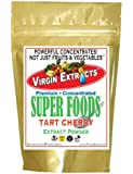 Virgin Extracts (TM) Pure Premium Montmorency Freeze Dried Organic Tart Cherry Powder 52:1 Cherry Extract Powder Concentrate SuperFood (52 x Stronger) 16oz Pouch