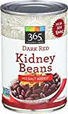 365 Everyday Value, Dark Red Kidney Beans No Salt Added, 15.5 Ounce