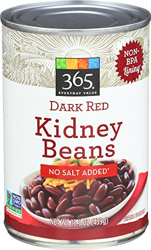 365 Everyday Value Dark Red Kidney Beans No Salt Added, 15.5 Ounce
