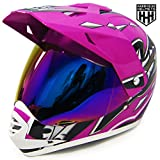SmartDealsNow DOT Youth & Kids Helmet for Dirtbike ATV Motocross MX Offroad Motorcyle Street bike Helmet (Small, Purple)