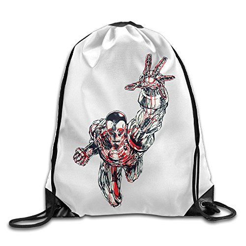 Chocy American Comic Books Superhero Jogging White Backpack White