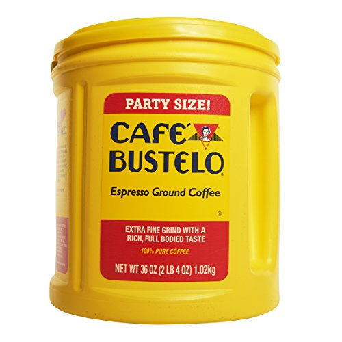 Cafe Bustelo Espresso Ground Coffee, 36oz Canister -