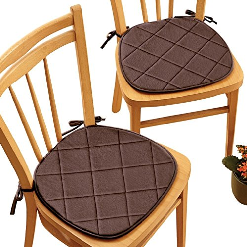 Quilted Memory Chair Pads Chocolate