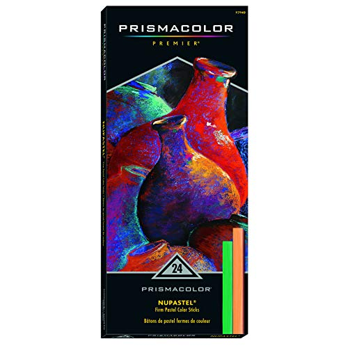 - Prismacolor 27049 Premier NuPastel Firm Pastel Color Sticks, 24-Count