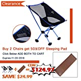 Fruiteam Camping Chairs Folding Hiking Picnic Portable Camp Chair with Carry Bag for Backpacking Outdoors Sporting Material