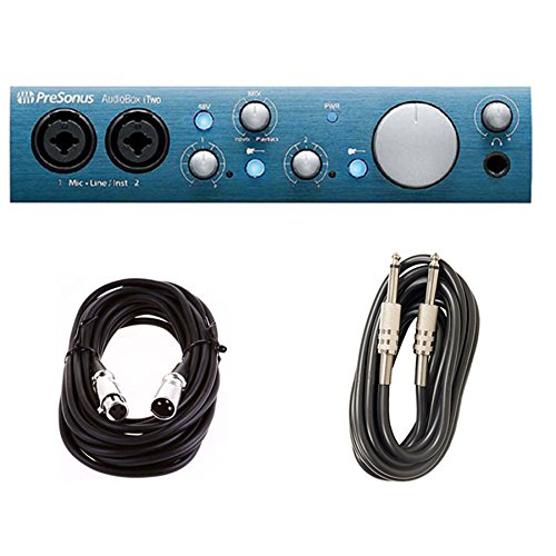 PreSonus AudioBox iTwo iPad and Computer Interface with XLR & Instrument Cables Bundle by PreSonus