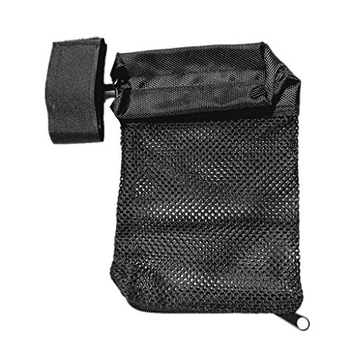 Weite Portable Hunting Accessories Military Gear Shooting Brass Bullet Catcher Rifle Pistol Mesh Trap Shell Catcher Wrap Around Zipper Mesh Bag (Black)