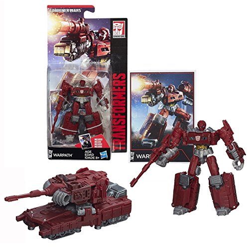 Hasbro Year 2014 Transformers Generations Combiner Wars 4 Inch Tall Legends Class Robot Figure - Autobot WARPATH with Collector Card (Vehicle:Tank)