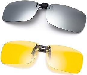 ee7e3ff61578 Cyxus  2 Pack  Polarized Lenses Classic Clip-On Sunglasses