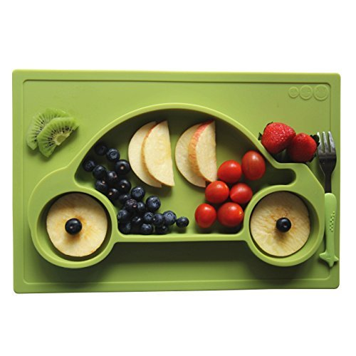 Galaxy 1 Piece Car Silicone Placemat & Tray, Green