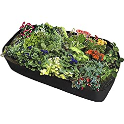 ASSR Fabric Raised Garden Bed, Rectangle Breathable Planting Container Grow Bag Planter Pot for Plants, Flowers, Vegetables size 6(L) x3(W) ft (Black)