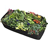 Xnferty Fabric Raised Garden Bed, 6x3 Feet Rectangle Breathable Planting Container Grow Bag Planter Pot for Plants, Flowers, Vegetables (Black)