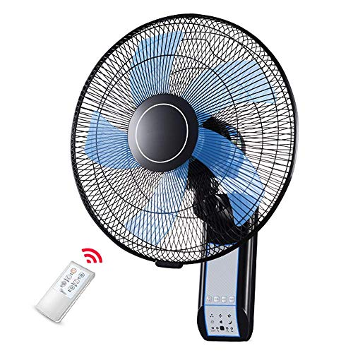 Wall mounted fan High-Speed, Heavy Duty, Black Commercial Electric Fan, Silent Operation with Remote Control - Adjustable Angle, 3-Speed