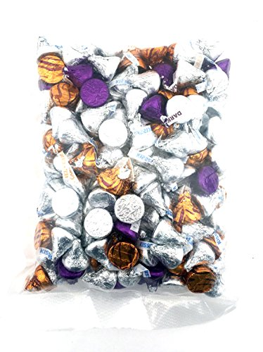 Hershey's Kisses Special Dark, Milk Chocolate, Caramel Filled Kisses Christmas Candy - 2 - Purple Chips Chocolate