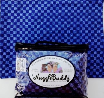 Spirit Wear Ideas ('NUGGLEBUDDY Microwaveable Moist Heat & Aromatherapy Organic Rice Pack. Cold Pack. Denim Colored Checked Fabric with SPEARMINT EUCALYPTUS Aromatherapy. Perfect Gift Idea!)