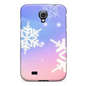 Hot Fashion Design Case Cover For Galaxy S4 Protective Case (snowflake Winter)