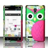 For LG Optimus L9 P769 / P760 (T-Mobile) Rubberized Design Cover - Owl Design offers