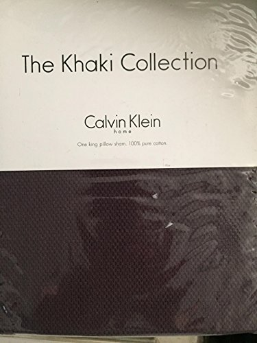 The Khaki Collection Calvin Klein Texture-Glimmer King Sham