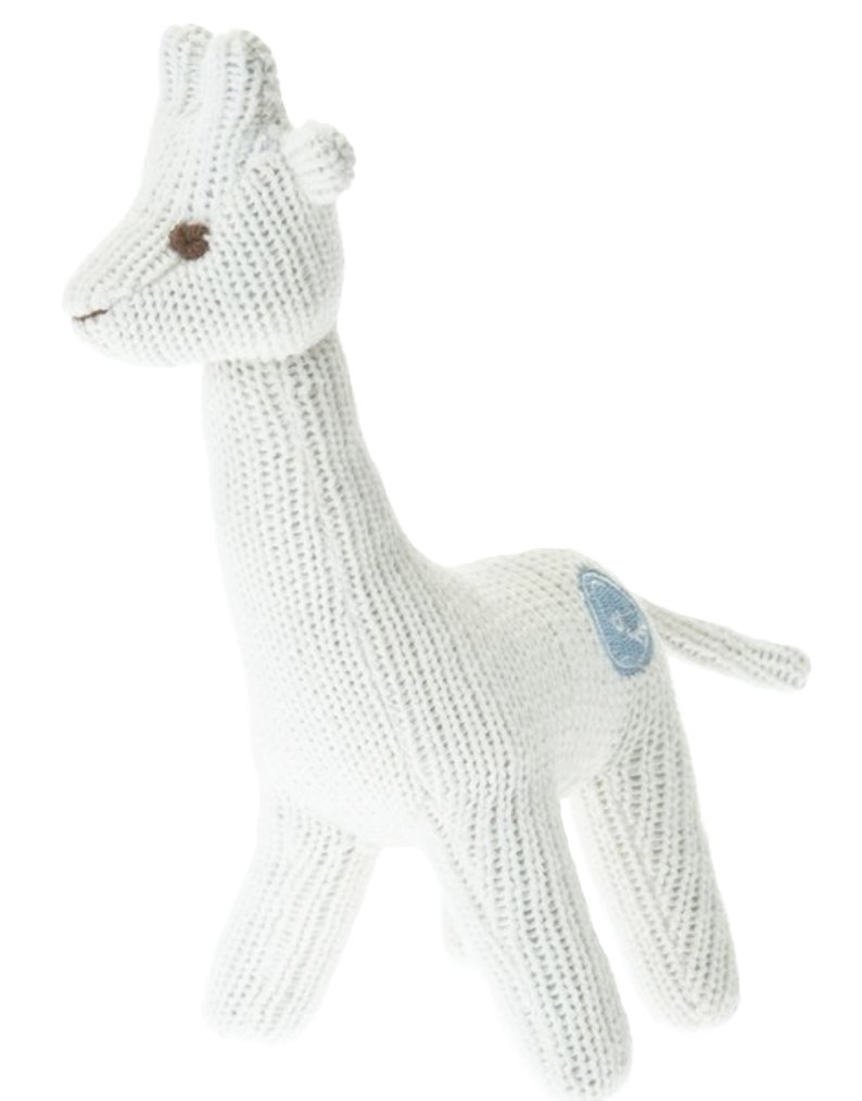 Beba Bean Knit Cotton Animal Rattle for Baby (Bear Grey)
