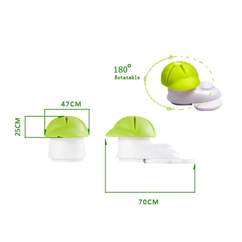 Sombrero Verde Puerta Tap/ón Anti-Golpe De Seguridad Para Ni?os Puerta Dise?o Atrapadedos Tapones De Puerta Wedge