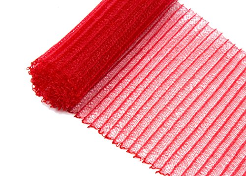Pleated Crinoline Horsehair Braid for Millinery 6 Wide - Red - Sold by The Yard
