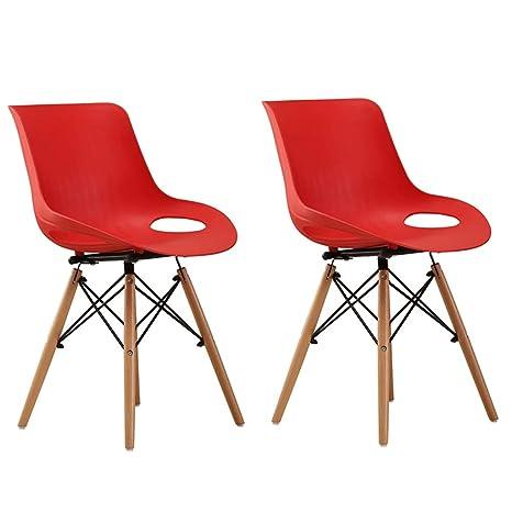 Amazon.com: Zcxbhd Eiffel - Juego de 2 sillas de comedor ...