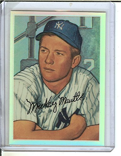 1996 Topps - Mickey Mantle Commemorative Reprints - Finest Refractors #20 Mickey Mantle (1952 Bowman)
