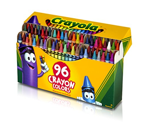 Crayola Crayons with Built-in Sharpener, 96 ct.