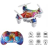 Cellstar CX-10D Mini Drone for Kids, 4CH 2.4GHz 6-Axis Gyro Rechargeable RC Quadcopter with Altitude Hold and 3D Flips (Multicolor)