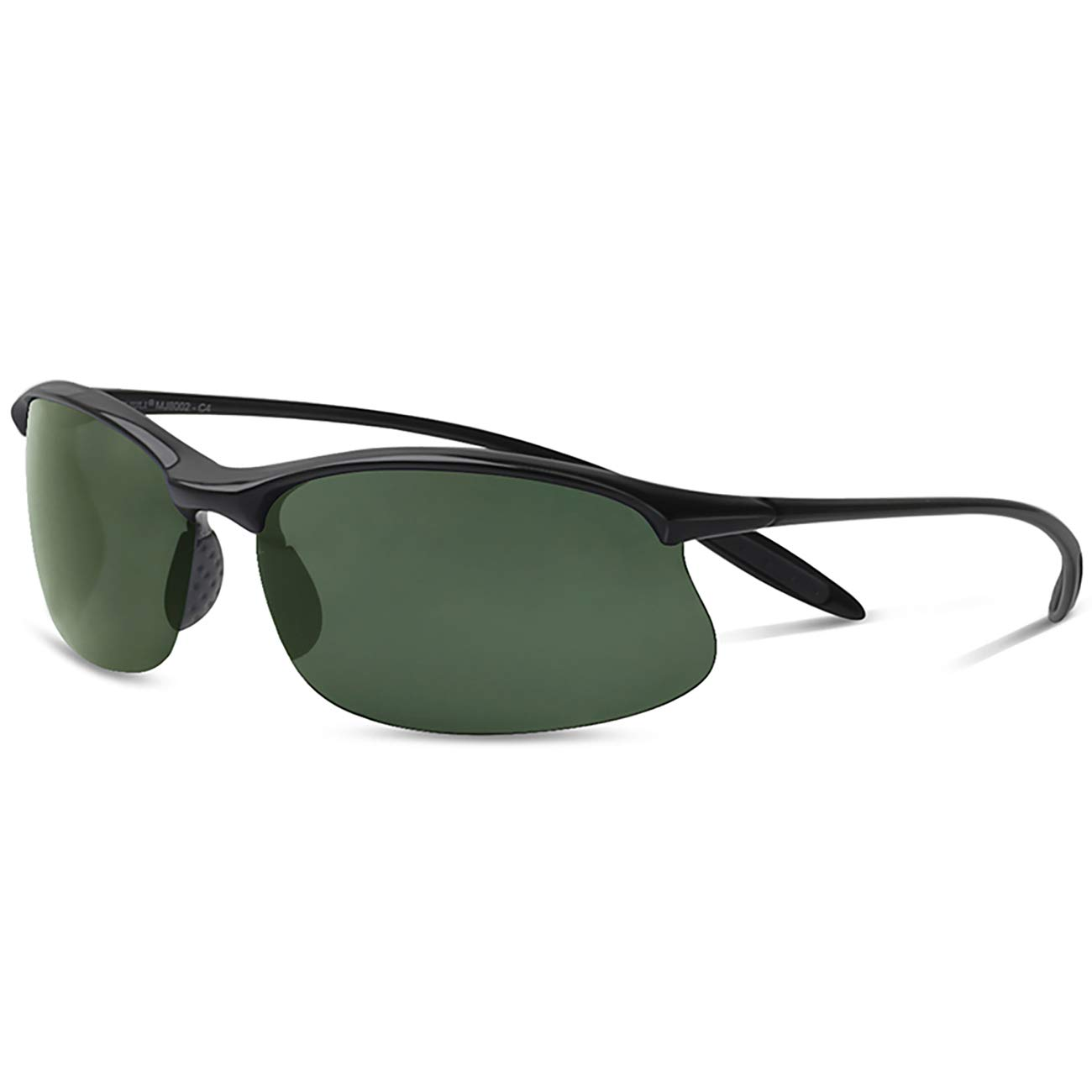 JULI Polarized Sports Sunglasses for Men Women Tr90 Unbreakable Frame for Running Fishing Baseball