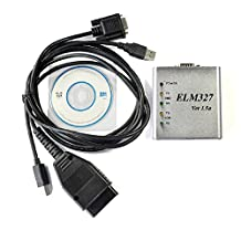 ELM 327 1.5V USB CAN-BUS Scanner ELM327 Software With genuine FT232rl Chip Can update driver online from official website for Win7/Win8