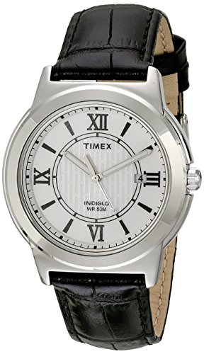 Timex Men's T2P5209J Main Street Watch with Textured Leather...