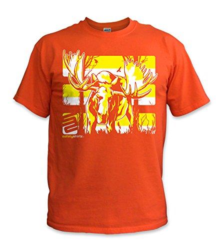 SafetyShirtz Men's Moose T-Shirt, Yellow/Orange, X-Large ()
