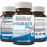 Hydrate Plus- Natural Electrolyte Supplement w/Himalayan Salt, ReHydrate & Recover; 180 Capsules - Supports Keto, Low Carb, Athlete's