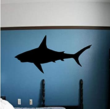 Zlxzlx Gran Tiburón Blanco Pegatinas De Pared Cama Extraíble Él ...