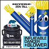 20FT Blue Skyer Wacky Waving Inflatable Fly Sky Guy Puppet Advertising Dancing Tube Includes 1HP SKYER Blower!