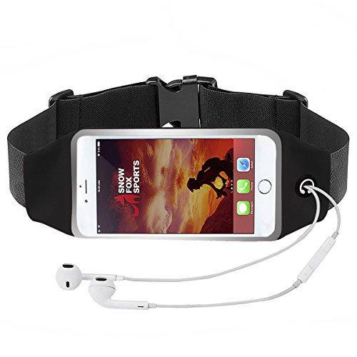 """SFS Running Belt Bag, Fitness Workout Belt Touch Screen Sweatproof Running Waist Pack for Cellphone 3.5"""" 5.5"""""""