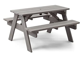 Amazoncom Delta Children Childs Picnic Table Stone Grey Baby - Stone picnic table