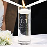 Cathy's Concepts Circle Monogram Floating Unity Candle
