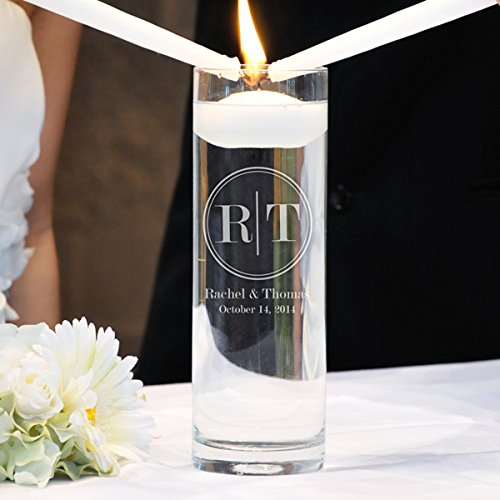 - Cathy's Concepts Circle Monogram Floating Unity Candle