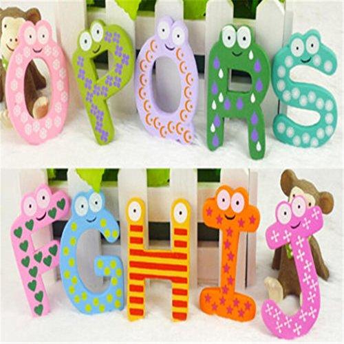 (Clearance Sale!DEESEE(TM)Baby toys 26pcs Letters Kids Wooden Alphabet Fridge Magnet Child Educational)