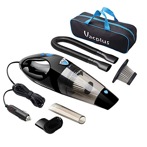 Car Vacuum, Vacplus DC 12V Car Vacuum Cleaner High Power, Portable Hand Vacuum Cleaner for Car with 16.4ft Cable