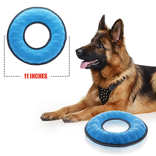 Tuff Pupper Multi-Use Floating Dog Ring Toy & Dog Water Toy | Great Dog Fetch Toy for Exercise - Bounces On Surfaces | NOT for Destructive Chewers