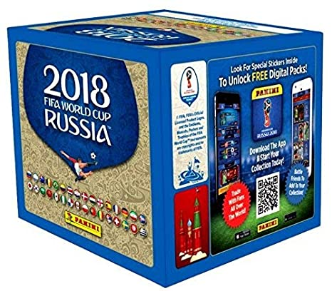 e0f828ac5 Image Unavailable. Image not available for. Color: Panini 2018 FIFA World  Cup Stickers Retail Box