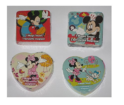 4 Different Disney Mickey Mouse Clubhouse Magic Pop Up Towel Wash Cloths