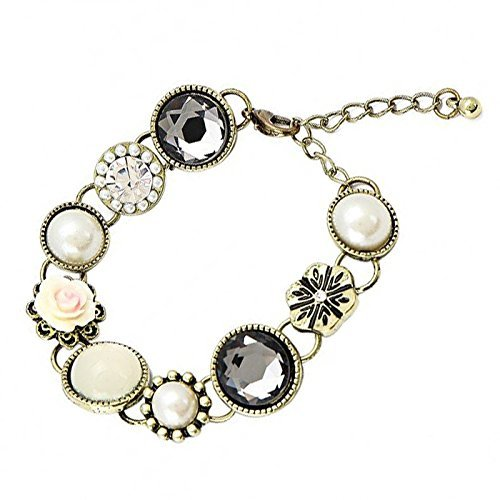 Young & Forever Girls' Navratri Diwali Special Princess Touch Gem Flower Bracelet Gold Toned by Young & Forever