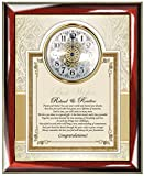Personalized Congratulation Best Wishes Engagement Poetry Wedding Gift Frame Plaque For Bride Anniversary Poem Wall Clock and Groom Present