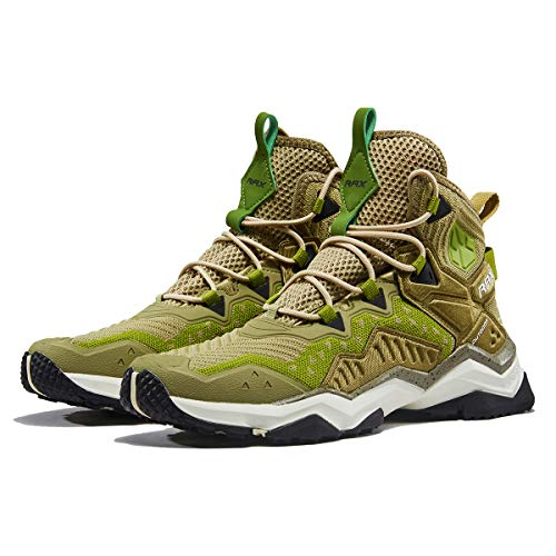 RAX Men's Wolf Outdoor Ventilation Hiking Boot Camping Backpacking Shoes Lightweight Sneaker 11 US Khaki